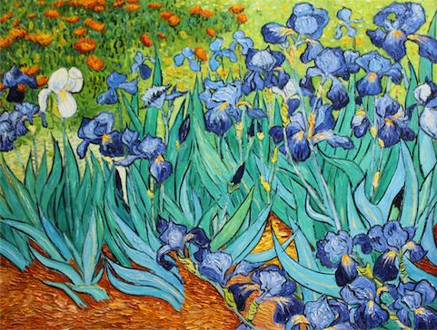 Dafen online reproductions irises vincent van gogh for Van gogh irises